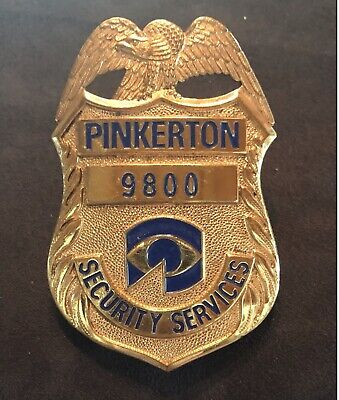 Obsolete Pinkerton Security Services Badge