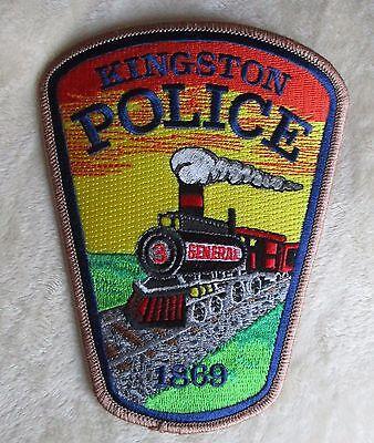 """Kingston Police Dept Shoulder Patch - Georgia - 4"""" x 5 1/4"""""""