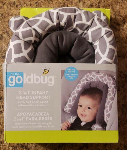 Goldbug 2-in-1 Infant Car Seat Head Support, Geo-Gray & White, Read Description