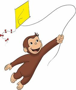 Curious george vinyl wall sticker wall decals ebay for Curious george wall mural