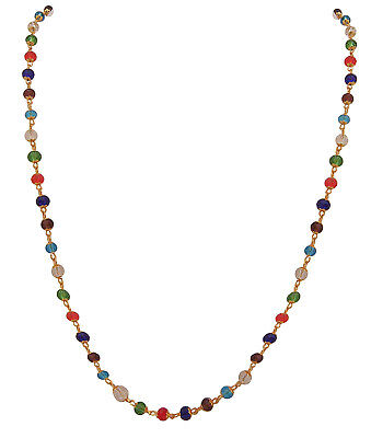 Indian Multicolored glass beads Long Necklace Chain for women Free shipping
