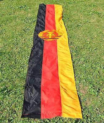 Riesige DDR-Fahne ca. 345 x 60 cm Flagge Emblem beidseitig  DDR F33 Banner