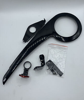 Black ABS Plastic Bicycle Chain Guard Cover Bike Chain Cover Shell 32-38 Teet Hx