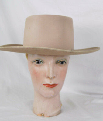 Vintage Stephen L. Stetson Beaver Fur Hat Western Cowboy 6 7/8