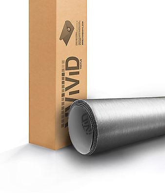 VViViD Brushed Silver Aluminum Vinyl car Wrap 1 ft x 5 ft 3mil decal sticker DIY