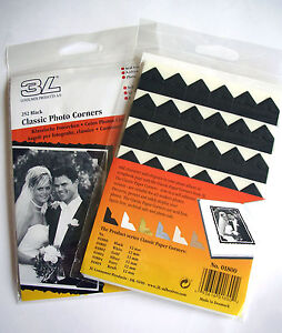 TRADITIONAL-CLASSIC-BLACK-PHOTOCORNERS-PACK-504-SELF-ADHESIVE