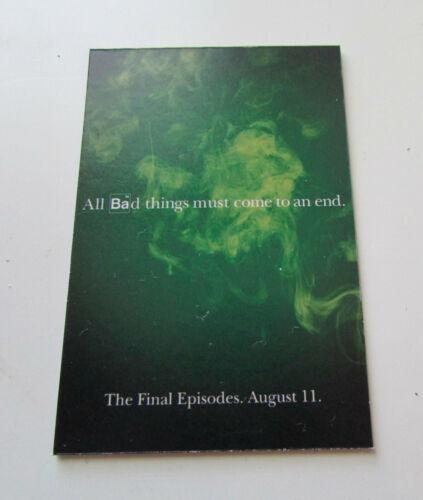 "Breaking Bad Walter White Heisenberg ""All Bad Things...End"" Refrigerator Magnet"