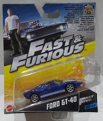 MATTEL 1:55 FAST & FURIOUS FORD GT-40 FAST FIVE 32/32 FCN88 / FCF35