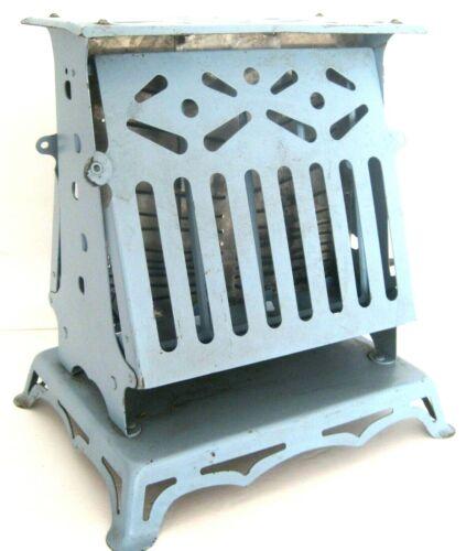 Antique 1914 Marion Giant FlipFlop Blue Metal Rutenber Electric Toaster Model 66