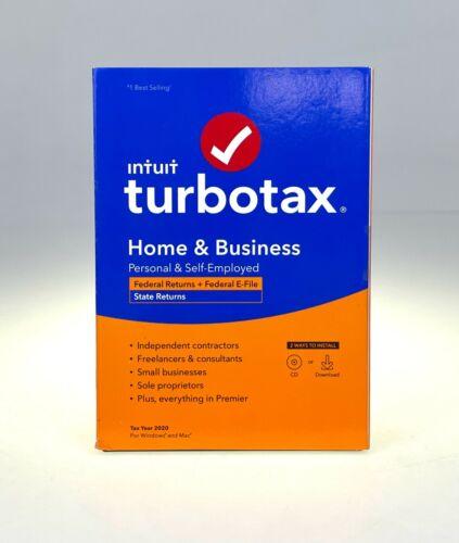 Intuit Turbotax Desktop Home & Business +  States 2020