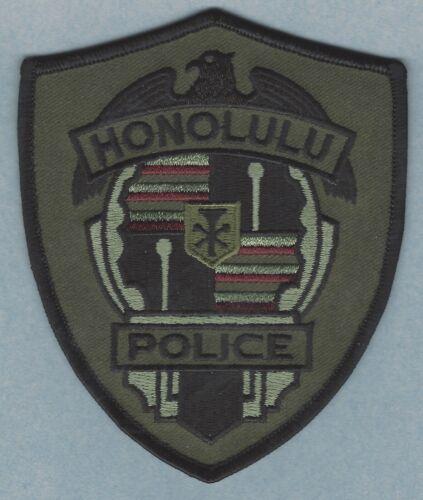 HONOLULU HAWAII POLICE SHOULDER PATCH TACTICAL GREEN