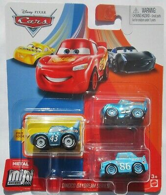 Disney Pixar Cars Mini Racers 3-Pack - Dinoco Daydream Series - King - Chick