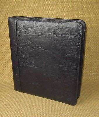 Monarch Franklin Covey Black Leather 1.75 Rings Zip Plannerbinder