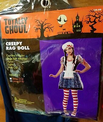 Creepy Doll Costumes (New  Creepy Rag Doll   Maid Costume Halloween  Cosplay)