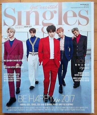 BTS/whole magazine/Singles Korea/ January 2017 RARE ITEM Tracking