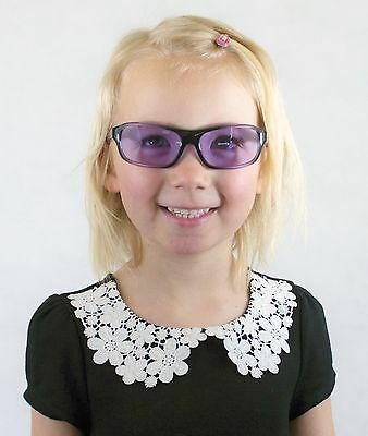 Happyeye Tinted glasses visual stress dyslexia overlays purple childs coloured