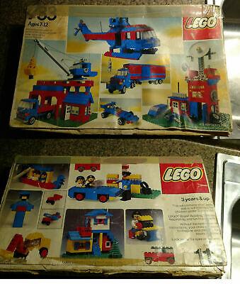2 Lego Universal Building Set 733 & 113 Boxes ONLY 1970s Storage Vintage Box