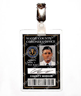 Supernatural Dean Winchester County Coroner ID Badge Cosplay Costume Comic Con