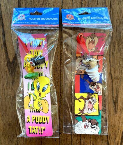 Looney Tunes Vintage Bookmark Lot New Sealed 1997 90s Tweety Bird Taz Devil