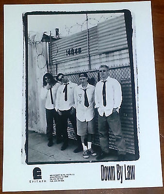 Down By Law 8x10 B&W Press Photo Epitaph Records
