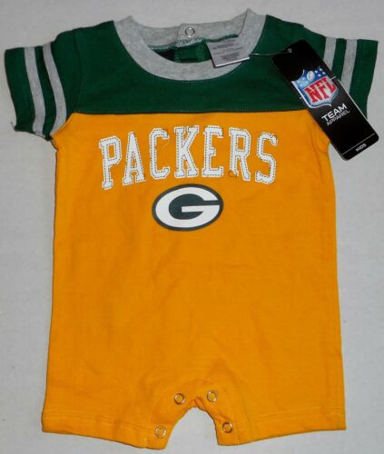 GREEN BAY PACKERS ONE PIECE JUMPER ROMPER INFANT BABY 0-3 3-6 6-9 12 18 mos NWT