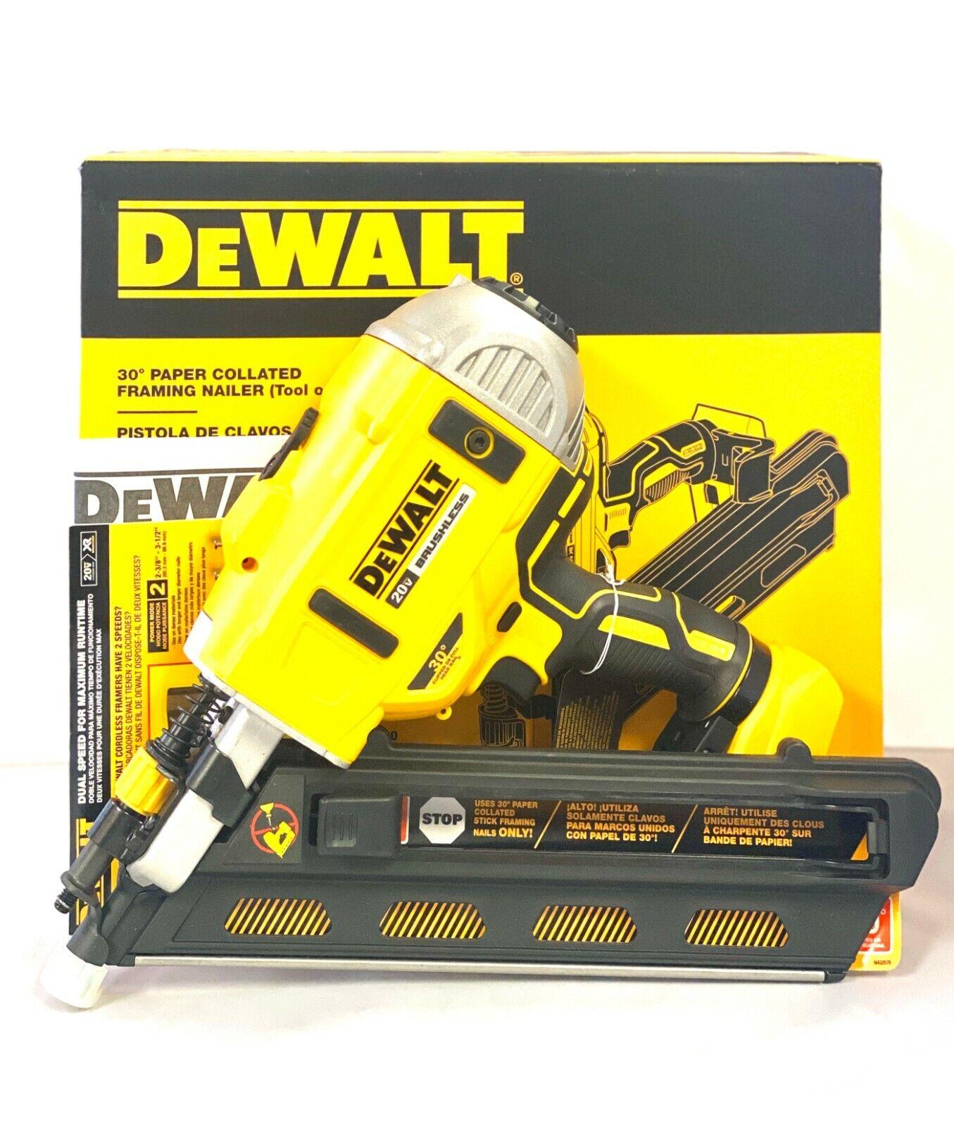 "DEWALT DCN692B 20V 2-3.5"" Cordless 30° Framing Nailer"