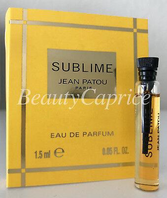 1 Sample x1.5ml Sublime Jean Patou Eau De Parfum Dab On VIAL Free P&P