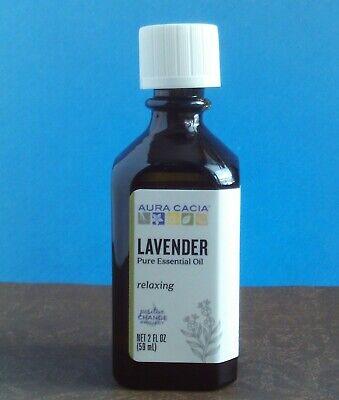 AURA CACIA LAVENDER 100% PURE NATURAL ESSENTIAL OIL RELAX/AROMATHERAPY 2OZ -