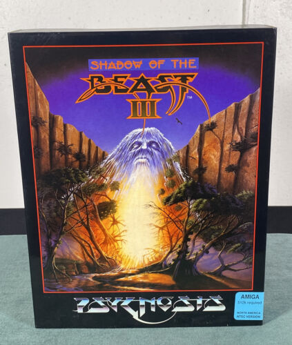 Computer Games - Commodore Amiga Shadow of the Beast III PC Computer Video Game w/ Manual & Box