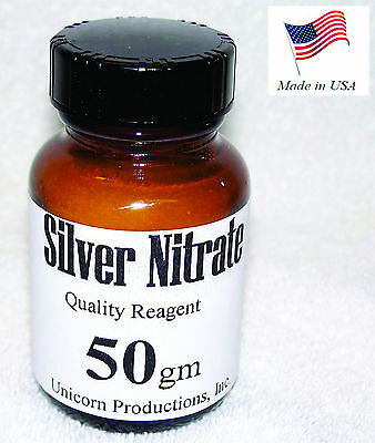 Silver Nitrate Made From 99.99 Silver Reagent - 50 Grams Agno3 Cas 7761-88-8