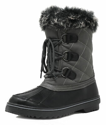 DREAM PAIRS Women Winter Insulated Waterproof Faux Fur Lined