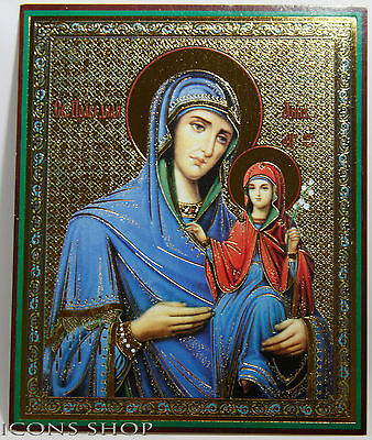 st anna, the mother of holy virgin mary orthodox icon laminated анна праведная