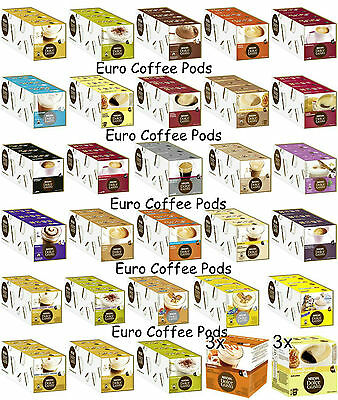 Nescafe Dolce Gusto Coffee Pods, Capsules - 3 Boxes - Select From 40 Flavours 1F
