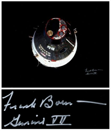 "Frank Borman Signed 20"" x 16"" Photo of Gemini 7"