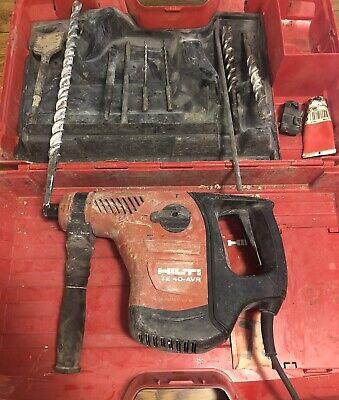 Hilti Te 40-avr Rotary Electric Hammer Drill Bits Case