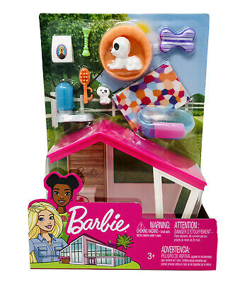 Barbie Ken Puppies and Dog House Furniture And Accessories Set FXG34 NEW