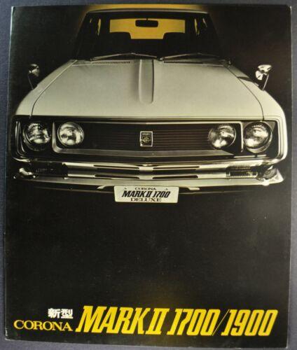1971 Toyota Corona Mark II Brochure Toyopet 1700/1900 GSL Japanese Text Original