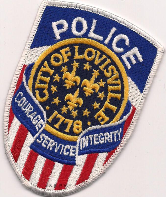 """Lovisville - 1778, Kentucky (3.25"""" x 4.5"""" size)  shoulder police patch (fire)"""