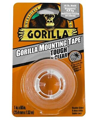 Gorilla Mounting Tape Clear Double Sided