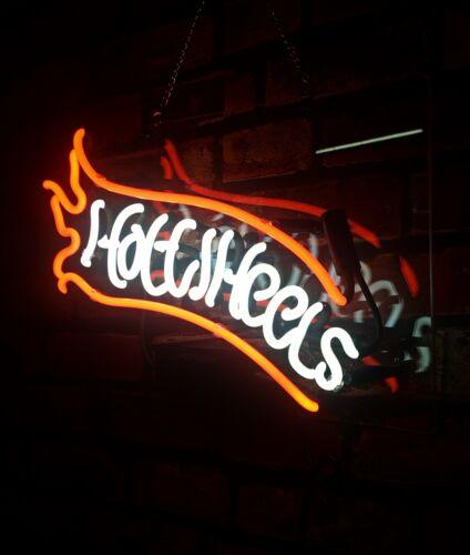 "Handmade /'Hot wheels/' Neon Sign Light Beer Bar Pub Home Room Wall Decor 14/""x9/"""