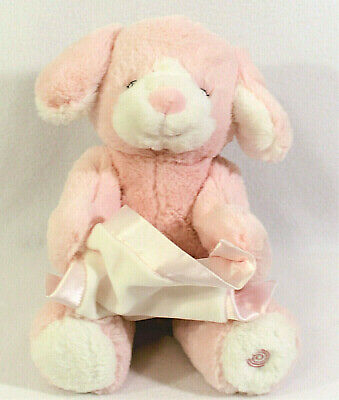 "GUND Peek A Boo Puppy Animated Talking Plush 10"" Pink Stuffed Animal Infant Toy"