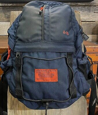 Vintage Abercrombie & Fitch A-10 Navy/Red Backpack. Hiking Camping See Desc