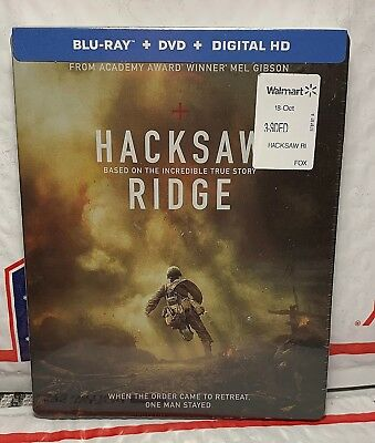 Used, NEW HACKSAW RIDGE BLU-RAY+DVD+DIGITAL HD STEELBOOK! WALMART VERSION! SEALED for sale  Phoenixville