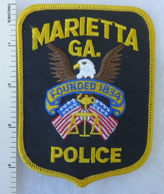 MARIETTA GEORGIA POLICE PATCH Vintage ORIGINAL