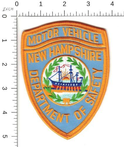 """NEW HAMPSHIRE DEPARTMENT OF SAFETY """"MOTOR VEHICLE"""" POLICE SHOULDER PATCH NH"""