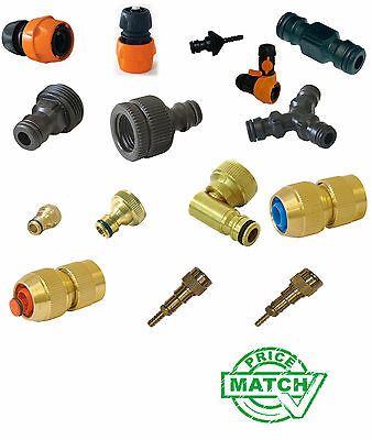 Garden Water Hose Pipe Connector Accessories Watering Quick Brass Plastic WFP ()