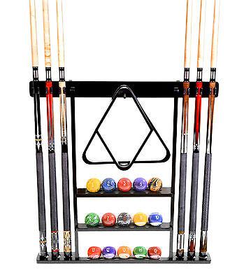 Cue Rack Only - 6 Pool - Billiard Stick Wall Rack Holder Black Scratch + Dent