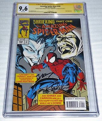 Amazing Spider-Man #390 3x CGC SS Signature Autograph STAN LEE BAGLEY EMBERLIN