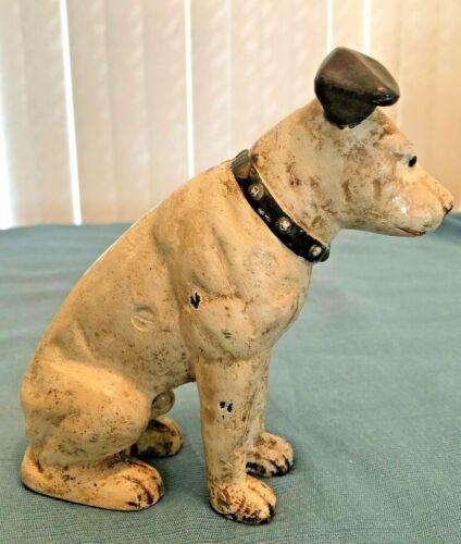 Antique RCA Mascot Dog Nipper Still Cast Iron Bank