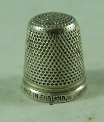 Antique Sterling Silver Thimble Size 17 The Spa HG&S AZX